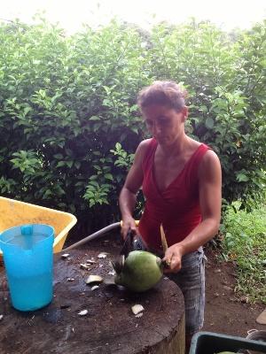 Coconut water in Pavones