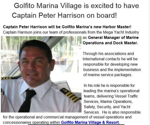 Golfito marina dock master.